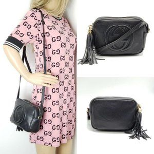Gucci Disco Soho Camera Black Crossbody Bag